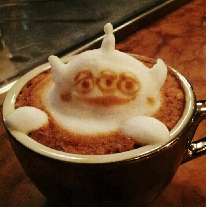 3d coffe latte art 3
