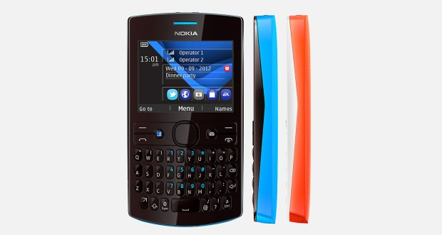 Nokia Asha 205 Front and Side View
