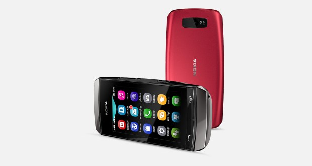 Nokia Asha 305 Back and Horizontal View