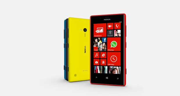 Nokia Lumia 720 Front and Back View