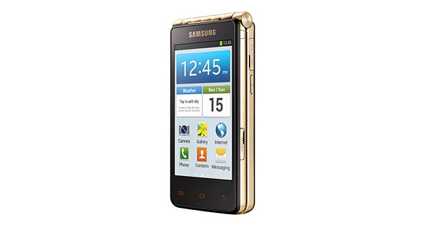 Samsung Galaxy Golden Side View