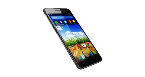 Micromax Canvas 4 Plus Front and Side View
