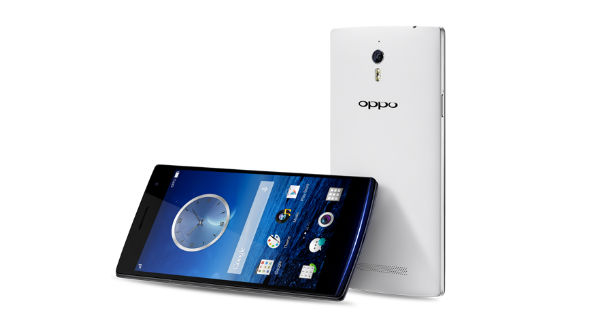 Oppo Find 7a Back and Horizontal View