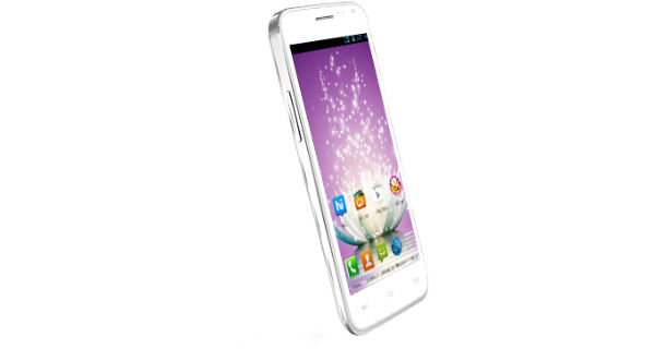 Micromax Canvas Blaze MT500 Front and Side View