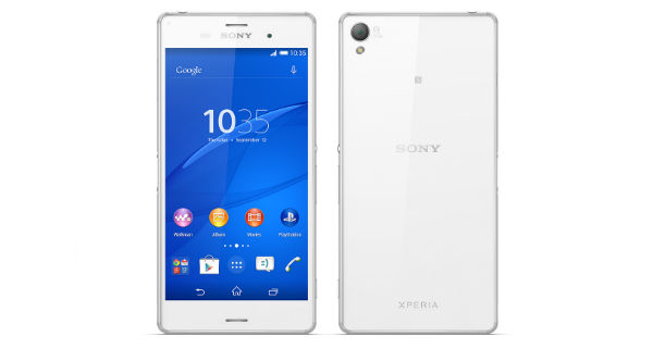Sony Xperia Z3 Front and Back View