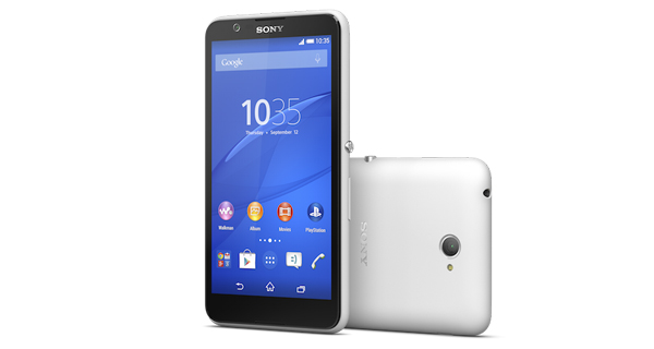 Sony Xperia E4 Front & Back View