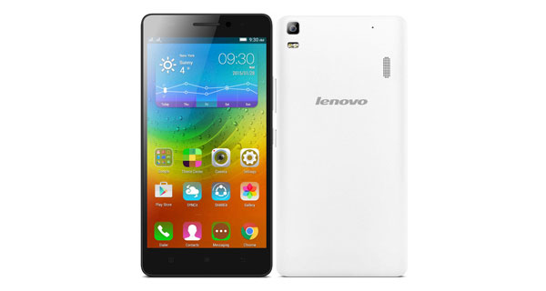 Lenovo A7000 Front & Back View
