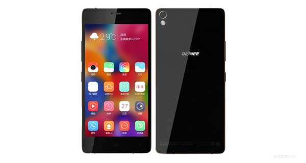 Gionee Elife S7 Front and Back View