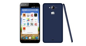 Micromax Canvas Play Q355 Front and Back View