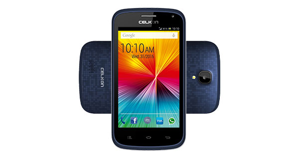 Celkon Campus A407 Front and Back View