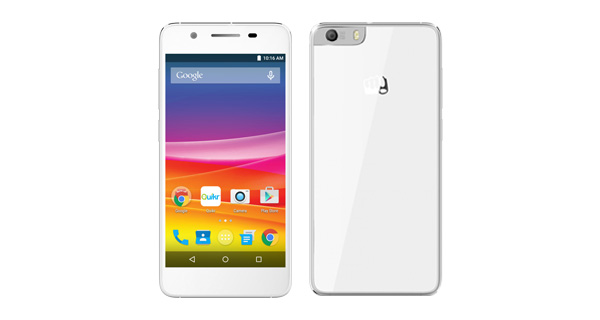 Micromax Canvas Knight 2 Front and Back View