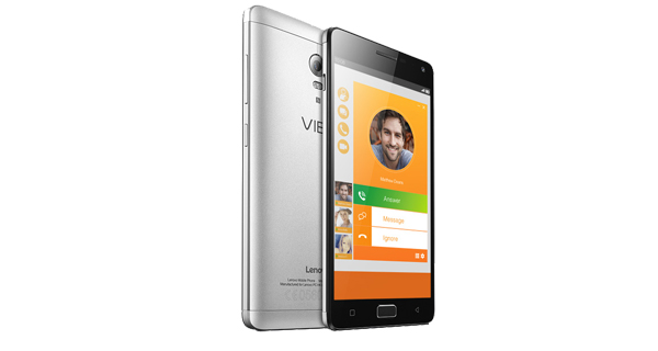 Lenovo VIBE P1 Front and Back View