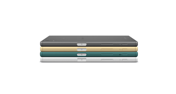 Sony Xperia Z5 Dual Top and Side View