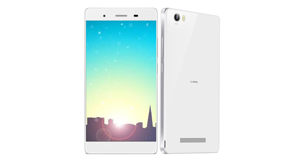 Lava Iris X10 Front and Back View