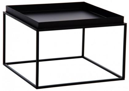 table basse carree metal noir phong