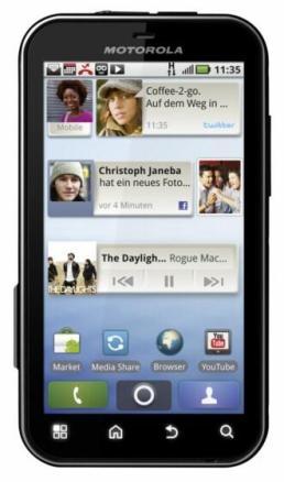 Motorola DEFY frontal mit MOTOBLUR [Blog]