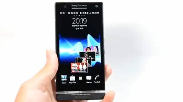 Android 4.0 für das Sony Xperia S im Video