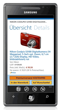 Amazon für Windows Phone 7