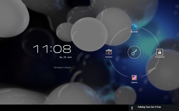 Motorola XOOM WiFi Android 4.0 Lockscreen