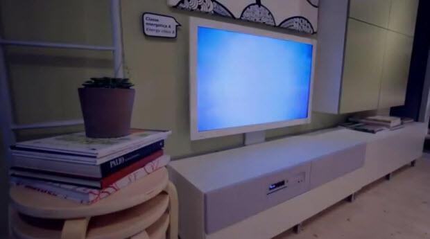 Wohnzimmer-Konzept mit Uppleva Smart TV