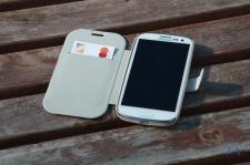 Tridea Samsung Galaxy S3 Flip Card Pocket Case White IMG_8167