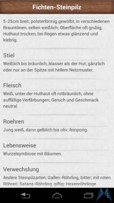 Pilzführer Pro Android test (13)