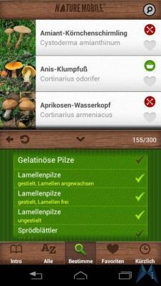 Pilzführer Pro Android test (3)