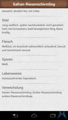 Pilzführer Pro Android test (7)