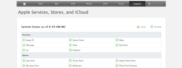 apple status online
