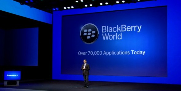 blackberry 10 event live apps