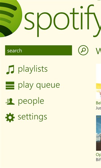 spotify wp 8 beta 1