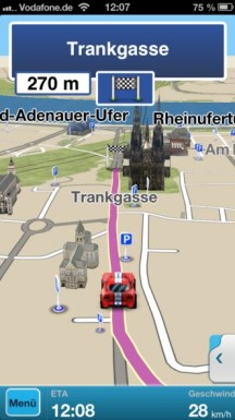 Telmap M8 iPhone 5 Navigation 1