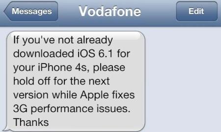 vodafone uk iphone 4s 3g probleme