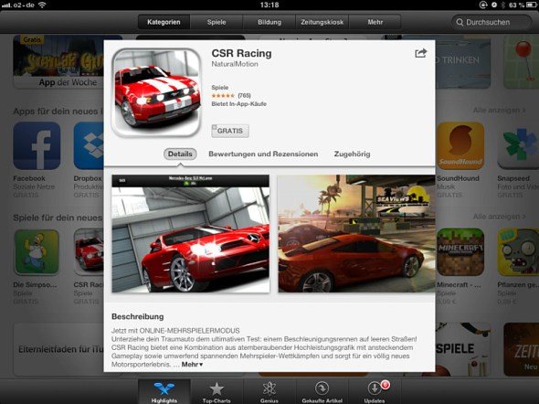 app store purchases warnung