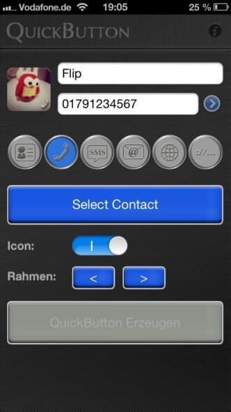 QuickButton für iOS