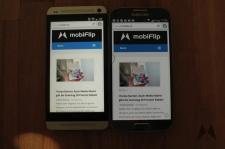 Display Samsung Galaxy S4 vs. HTC One IMG_2332