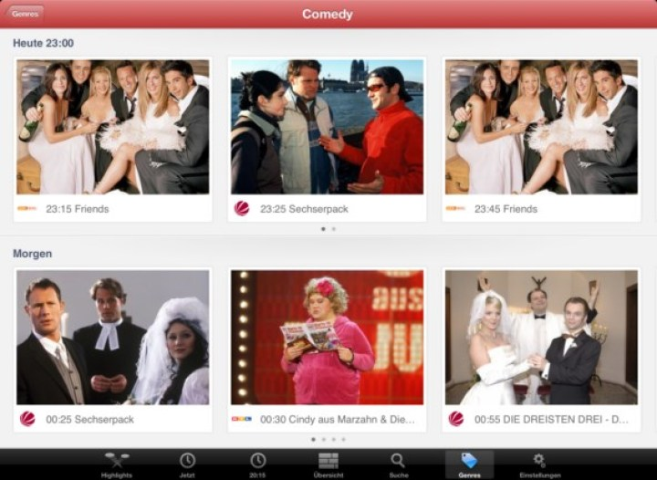 ON AIR 4.0 DE iPad - Genre Browser Beispiel 3