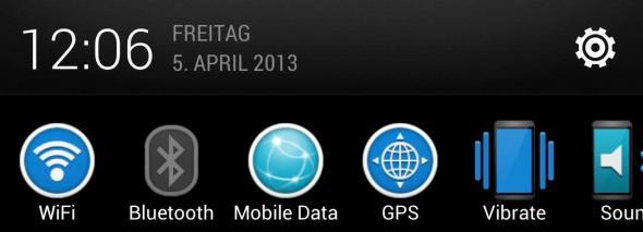 Quick Settings EQS HTC ONE