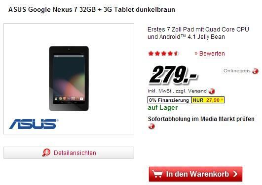 nexus 7 media markt