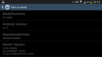 Samsung Galaxy S4 Einstellungen