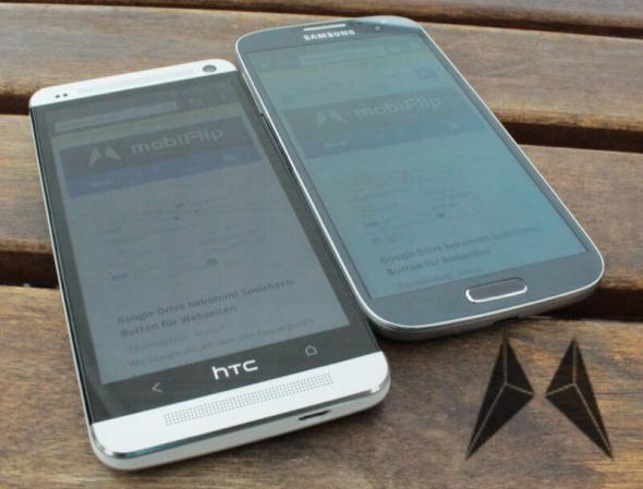 Samsung Galaxy S4 Display Lesbarkeit HTC One
