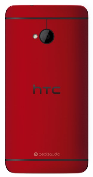 HTC One red back cut out 3