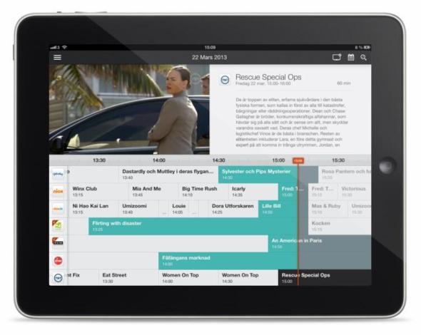Magine on iPad - Timeline 3