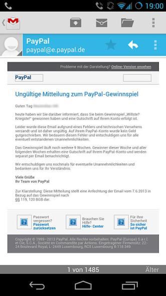paypal email gewinnspiel