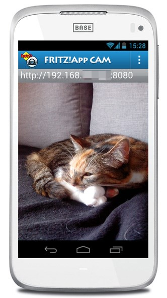smartphone als ip kamera fritz app cam f r android ausprobiert. Black Bedroom Furniture Sets. Home Design Ideas