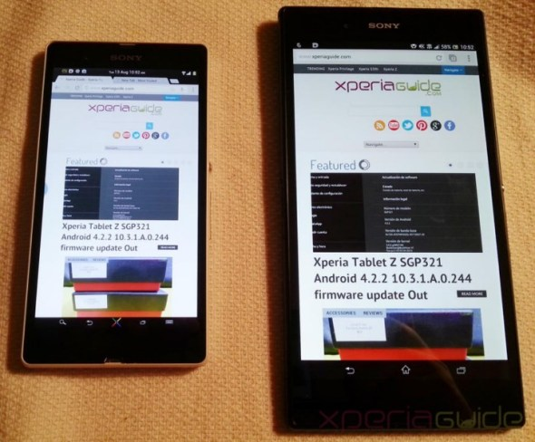 Xperia-Z-Ultra-Vs-Xperia-Z-Google-Chrome-Website-layout-comparison 2