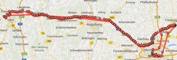 Google Standortverlauf Tour 2