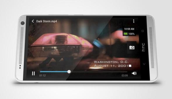HTC One max Glacial Silver  Horizontal Oblique 2
