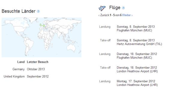 google-maps-standordverlauf-android daten fluege