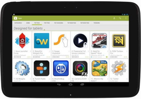 play store google android tablet